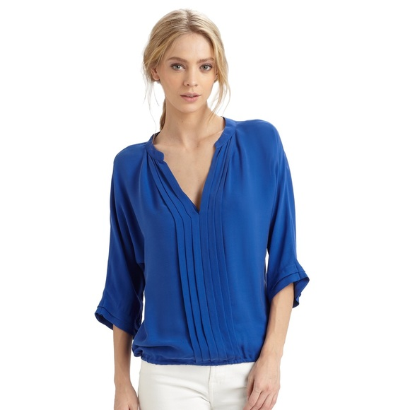 9b2cfbf69aebdb Joie Tops | Marru Pleated Silk Blouse | Poshmark